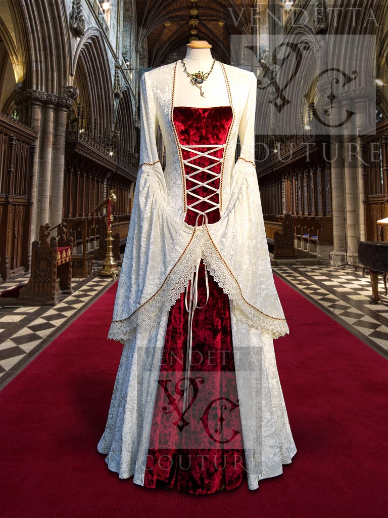 Lily 012 medieval style dress for Romanian wedding dress designer