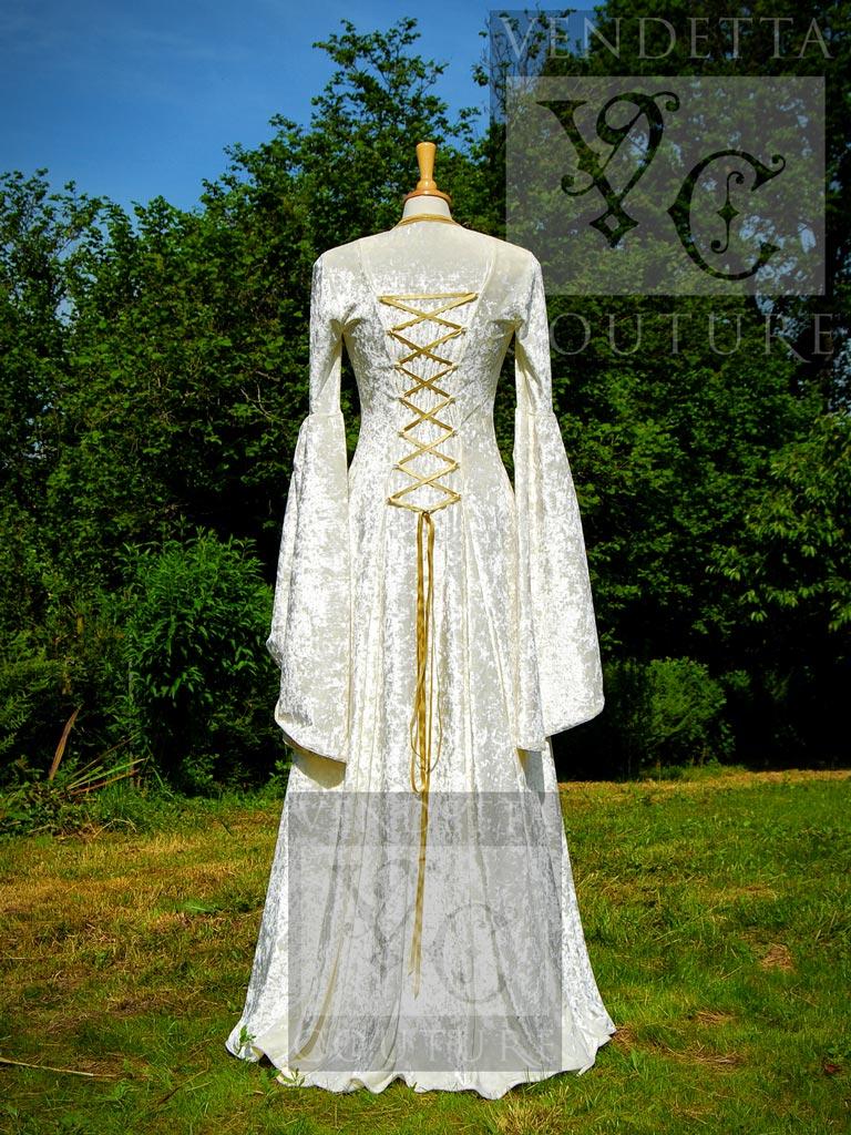 Medieval Wedding Dress in Ivory