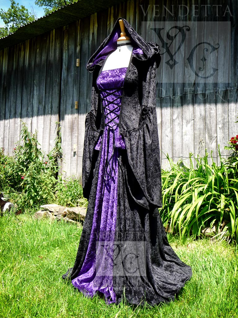 Violet 016 Hooded Gown