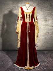 Sorrel-012 medieval style gown