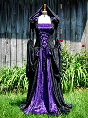 Violet-016 Hooded medieval dress