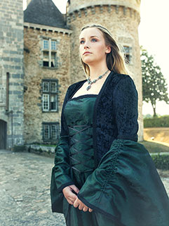 Custom Black Medieval dress