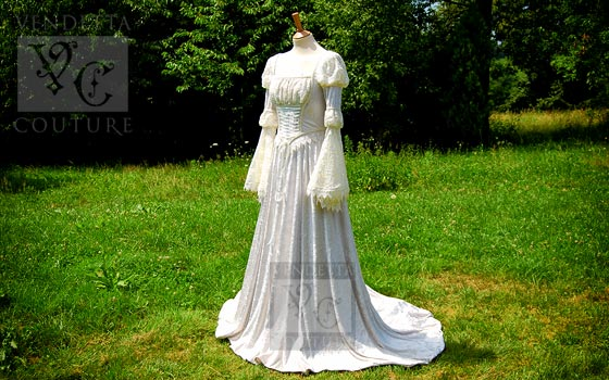Fleur-012 medieval style gown