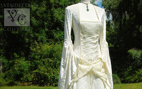 398f39f3126 UK Medieval Wedding Dresses and Gowns by Vendetta Couture