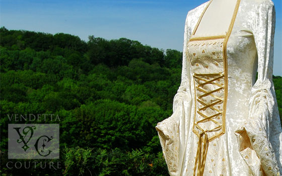 Medieval wedding dresses and gowns