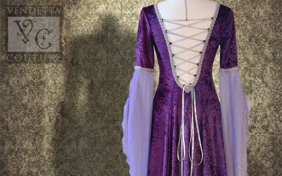 Waterlily-013 Medieval Style Dress
